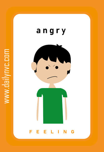 Angry - Feelings Cards - Daily NVC - www.dailynvc.com