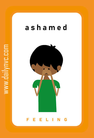 Ashamed - Feelings Cards - Daily NVC - www.dailynvc.com