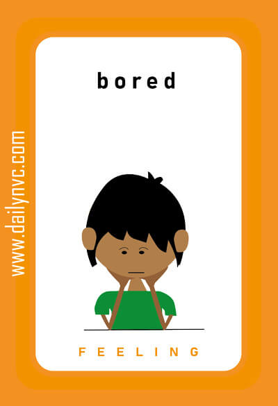 Bored - Feelings Cards - Daily NVC - www.dailynvc.com