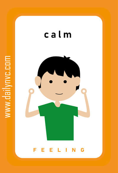 Calm - Feelings Cards - Daily NVC - www.dailynvc.com