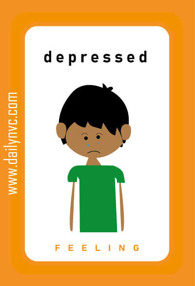 Depressed - Feelings Cards - Daily NVC - www.dailynvc.com