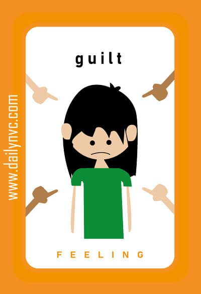 Guilt - Feelings Cards - Daily NVC - www.dailynvc.com