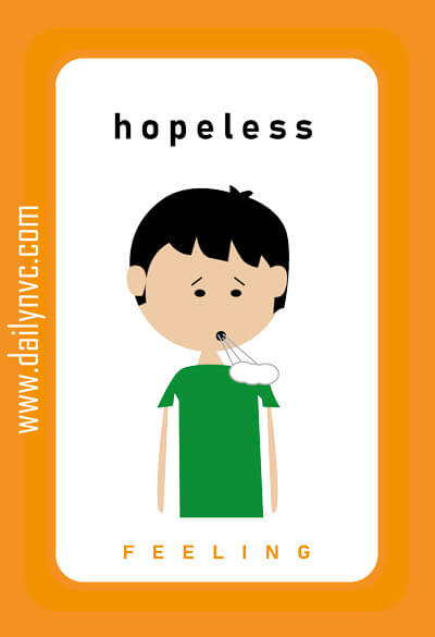 Hopeless - Feelings Cards - Daily NVC - www.dailynvc.com
