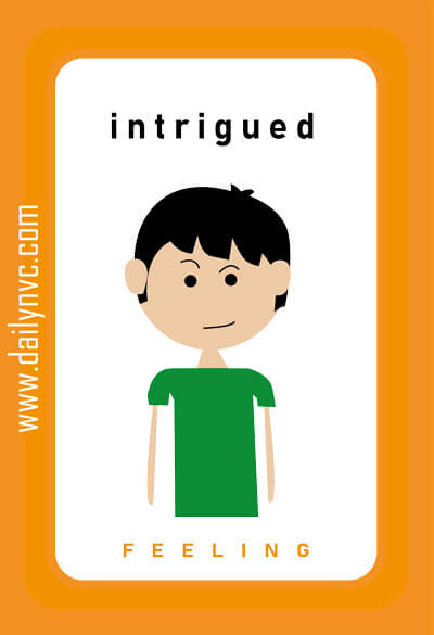 Intrigued - Feelings Cards - Daily NVC - www.dailynvc.com