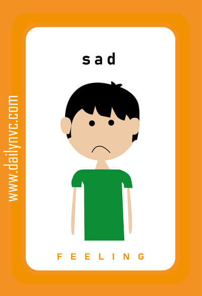 Sad - Feelings Cards - Daily NVC - www.dailynvc.com