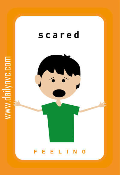 Scared - Feelings Cards - Daily NVC - www.dailynvc.com