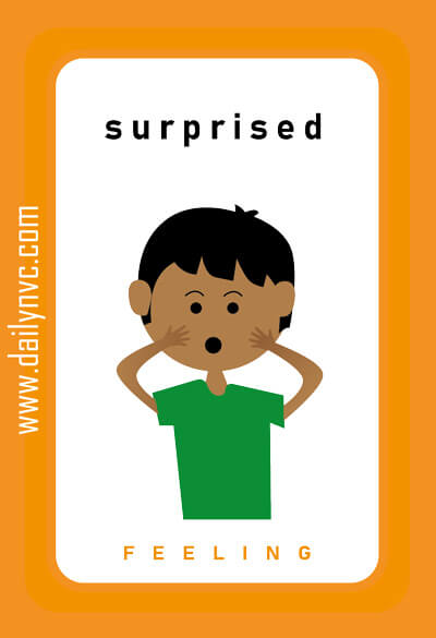 Surprised - Feelings Cards - Daily NVC - www.dailynvc.com
